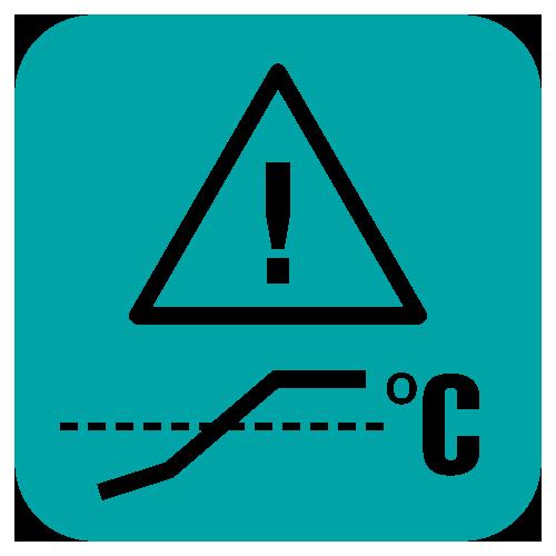 ostrzeżenie o podwyższonej temperaturze