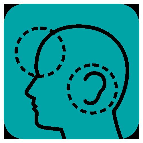 pomiar na czole lub w uchu