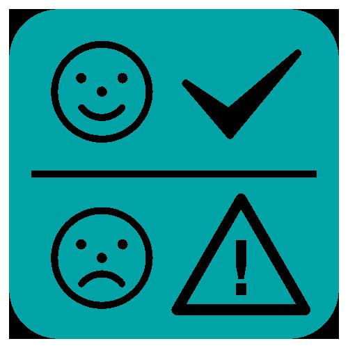 interpretacja pomiaru temperatury – ikona buźki